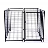 ALEKO 5 by 5 by 4-Feet Dog Kennel Heavy Duty Pet Playpen Exercise Pen Cat Fence