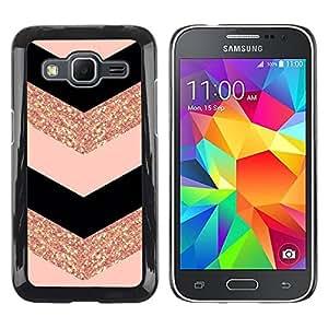 TopCaseStore / la caja del caucho duro de la cubierta de protección de la piel - Fashion Glitter Gold Pattern - Samsung Galaxy Core Prime SM-G360