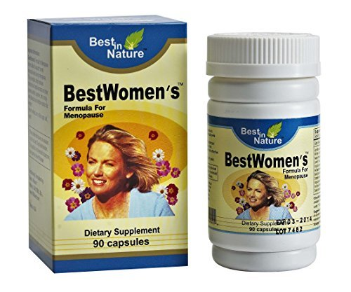 Bestwomen's Formula - Eases Hot Flashes, Night Sweats,Sleeplessness Associated with Menopause - Soy Isoflavones, Valarian, Wild Yam Extract, Licorice Extract, Red Raspberry Powder, Black Cohosh Extract, Chasteberry Extract, Ginger Root ()