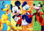 Gertmenian & Sons Disney Mickey Mouse Club House Patchwork Digital Printed Jumbo Size Kid'S Bedding Area Rug