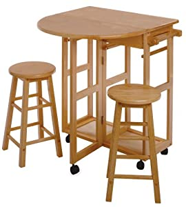 Amazon Com Winsome Wood Beachwood Breakfast Bar Kitchen