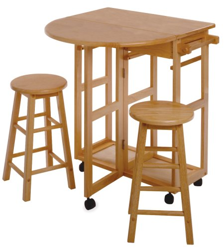 Winsome Wood Beachwood Breakfast Bar (Table Storage With Breakfast)