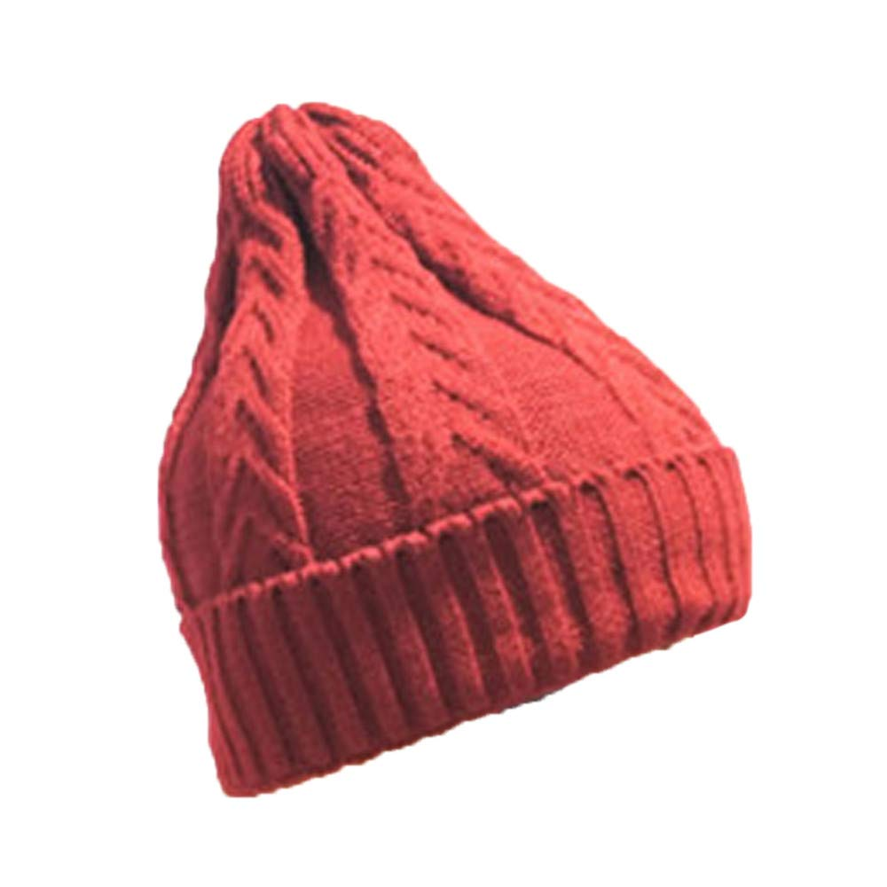 Inkach Baby Knit Lined Hats, Children's Winter Warm Slouchy Skull Caps, Toddler Boys Girls Beanie Hat (Watermelon Red)