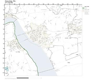 Amazon.com: ZIP Code Wall Map of Columbia, PA ZIP Code Map Laminated on