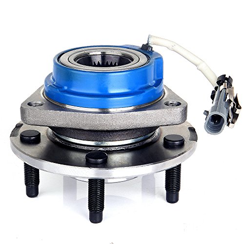 ECCPP Wheel Hub and Bearing Assembly Front Rear 513121 fit 2000-2004 Buick Century Lesabre Park Chevrolet Pontiac Replacement for 5 lugs Wheel hub with ABS 3 Bolt ()