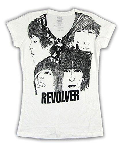 Revolver Album Cover - Revolver Album Art Girls Juniors White T Shirt (L)