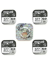 Maxell Watch Battery Button Cell SR626SW SR-626SW 377 Pack of 5 Batteries