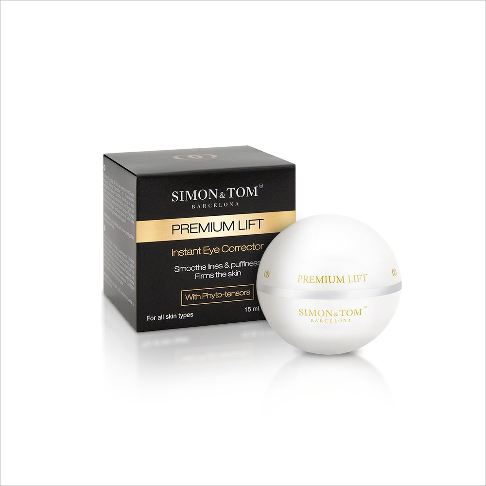 Simon & Tom Premium Lift Instant Eye Corrector Cream with Lifting and Firming Phyto-Tensors Reduces Fine Lines, Wrinkles & Dark Circles 15 ml