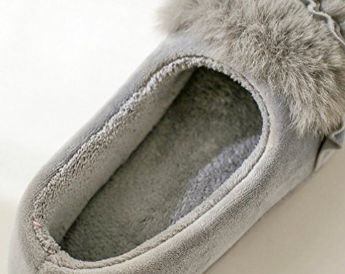 Shoes Indoor Outdoor Slippers Warm Womens Gray Slippers House Flower Cattior qw7S6XYU