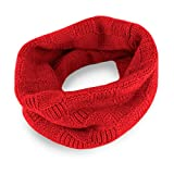 Love Cashmere Mens Checked 100% Cashmere Snood - Bright Red - made in Scotland - RRP $160