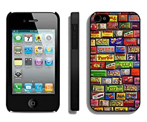 Popular And Durable Custom Designed Case For iPhone 4S With Childhood Bubble Gum Black Phone Case