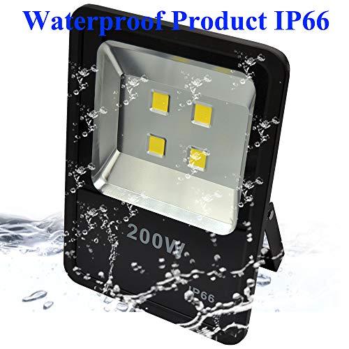 200W LED Flood Light 30000LM Stadium Lights Security Lighting fixtures Daylight AC110-240V by ZESOL (Image #2)