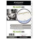 AT-A-GLANCE 2019 Monthly Planner Refill, Day Runner, 5-1/2'' x 8-1/2'', Desk Size 4, Two Pages Per Month, Loose Leaf (481-685Y)