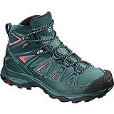 Salomon X Ultra Mid 3 GTX Hiking Boot - Women's Hydro/Reflecting Pond/Dubarry, US 9.5/UK 8.0