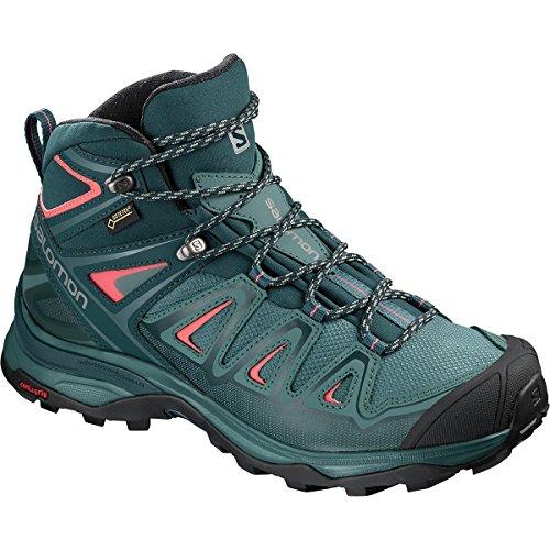 Salomon X Ultra Mid 3 GTX Hiking Boot - Women's Hydro/Reflecting Pond/Dubarry, US 6.5/UK 5.0