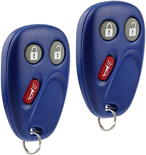Key Fob Keyless Entry Remote suits Chevy Tahoe Suburban Silverado Avalanche Equinox SSR/GMC Sierra Yukon/Cadillac Escalade/Hummer H2 / Pontiac Torrent/Saturn Vue (LHJ011 Blue), Set of two