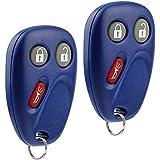 Key Fob Keyless Entry Remote fits Buick Rainier / Chevy Trailblazer / GMC Envoy / Isuzu Ascender / Oldsmobile Bravada (15008008 15008009 Blue), Set of 2