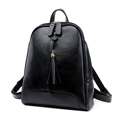 Sac Pu Voyage Trip Femme Black BAILIANG Fashion Tassel à Loisirs Shopping Dos qX08w1twH