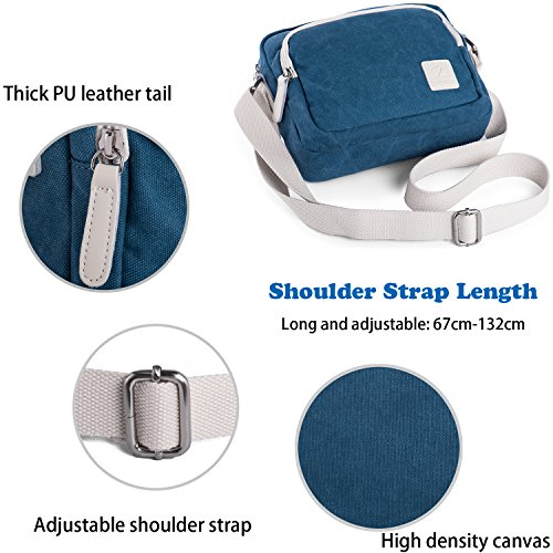 lake Messenger Casual Blue Canvas Lake Body Blue Unisex Multi Shoulder Pockets Lightweight Bag Cross Rechor Handbag Z87Iwz