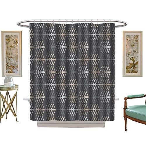 luvoluxhome Shower Curtain Customized Ethnic Boho Print Cloth Design Wallpaper Bathroom Set with Hooks W36 x L72