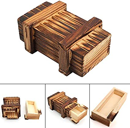 Educational Wooden Magic Puzzle Box Unique Brainteaser Toys for Adults and Kids