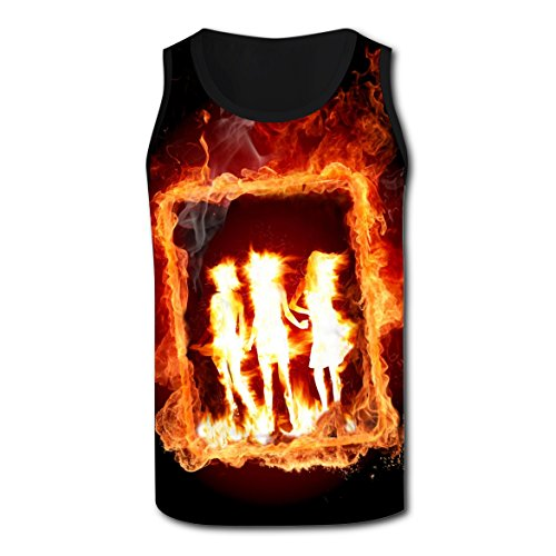 Women's Football Costume Diy (SEBIT Fire Flame Woman Ignis Photo Tank Top Singlet Plus Zise Tops for Men M)
