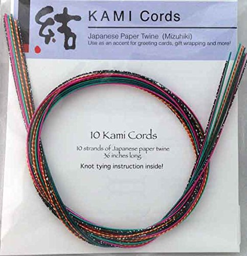 Paper Mizuhiki Cord - BRIGHTS MIZUHIKI ASSORTMENT - Package of 10 strands