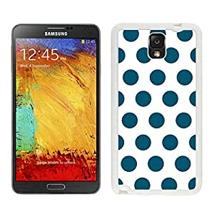 linJUN FENGAmazing Samsung Galaxy Note 3 Case Polka Dot White and Dark Green Soft Rubber Silicone White Phone Cover Speck