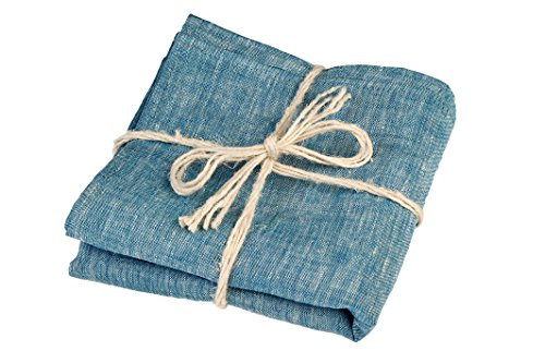 Green Foster Product Natural Soft Linen Flax Bath Towel, Blue (Towel Travel Bamboo)