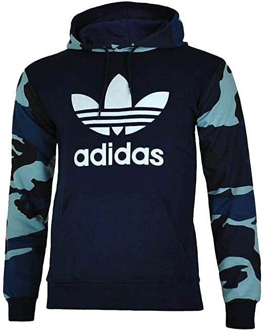 adidas hoodie camouflage blau