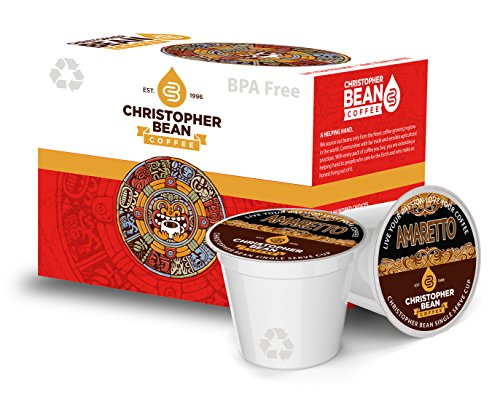 Amaretto Decaffeinated Single Cup Coffee Christopher Bean Coffee K Cup, For Keurig Brewers (18 Count Box)
