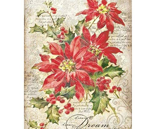 Hobby Colors Rice Paper Christmas Star and Text Stamperia Decoupage Rice Papers A4