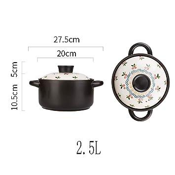 Olla de Cocina Olla de cerámica Olla de Sopa del hogar Estufa de Gas Olla de Piedra Olla-2.5L: Amazon.es: Hogar