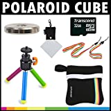 Polaroid Deluxe STARTER KIT For The Polaroid Cube, Cube+ Video Action Camera - Great Add On Package