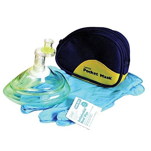 Laerdal CPR Pocket Mask, Complete, Blue Soft Case ()