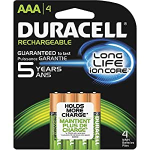 Amazon.com: Duracell Rechargeable AAA Batteries - 4 ct