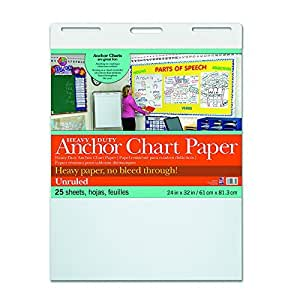 Pacon Heavy Duty Anchor Chart Paper, Unruled, 24 x 32 in