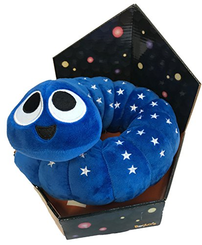 Slither Io Jumbo 24  Bendable Plush Toy In Box   Blue With Stars Color