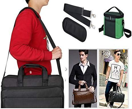 Sohapy Universal Replacement Laptop Shoulder Bag Strap /&Pad with Metal Hooks for Camera Briefcase Backpack Messenger Laptop Guitar Lunch Bag Adjustable Comfortable Nylon Material Black