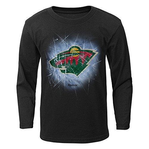 fan products of NHL Minnesota Wild Boys Encased In Ice Long Sleeve Tee, Medium/(5-6), Black