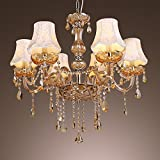 LightInTheBox European Style Luxury 6 Light Chandelier With K9 Crystal Modern Home Ceiling Light Fixture Flush Mount, Pendant Light Chandeliers Lighting, Voltage=110-120V Review