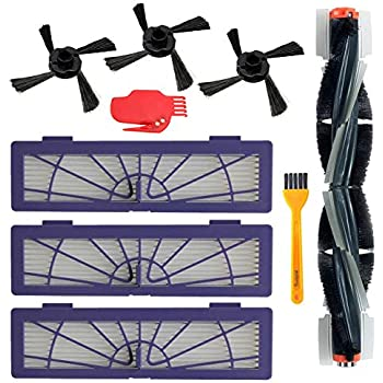 5 Side Brushes Accessories Kit for Neato Botvac D Series D3 D5 D75 D80 D85 75e 75 80 85 Robot Vacuum Cleaner Replacement Parts Pack of 5 Hepa Filters
