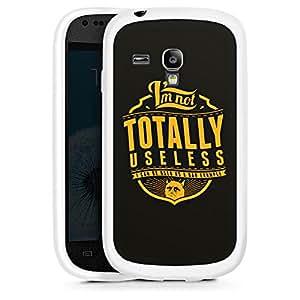 Silicona Carcasa blanco Funda para Samsung Galaxy S3 Mini - I'm Not Totally Useless