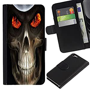 UNIQCASE - Apple Iphone 6 4.7 - Evil Skull Death Reaper - Cuero PU Delgado caso cubierta Shell Armor Funda Case Cover