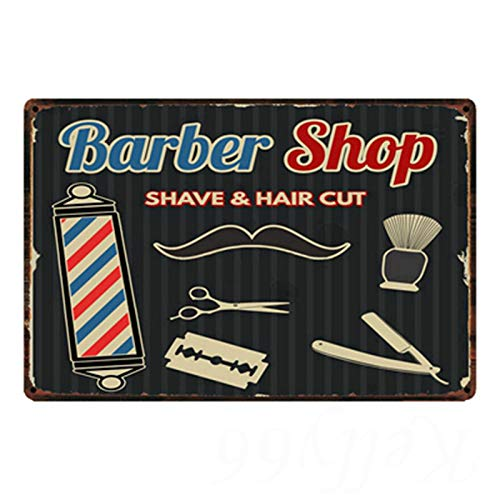 Vincent Lawson Barber Shop Shave and Hair Cut Tin Sign Metal Sign Metal Decorative Wall Sign Wall Poster Wall Decoration Door Home Decor Bar Wall Art Painting 2030 cm