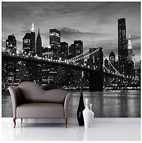 Black And White Wallpaper Mural Photo Wallpaper 3d Mural Large Wall