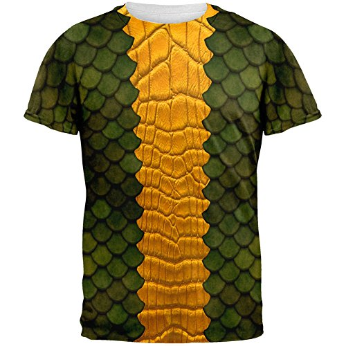 [Halloween Green Dragon Costume All Over Adult T-Shirt - Large] (Tv Show Costumes For Men)