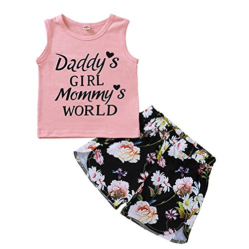 puseky Peuter Meisje Outfits Mouwloos Vest Shorts Thuis Wear