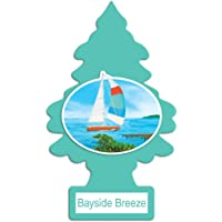 LITTLE TREES Car Air Freshener | Hanging Tree Provides Long Lasting Scent for Auto or Home | Bayside Breeze, 6-Packs (4…