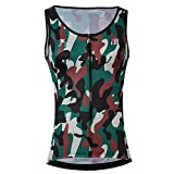 Cycling Sleeveless Jersey Vest Women/Bicycle Cycle Summer Vest Women/Breathable Bike Vest Sleeveless (XL, 7)